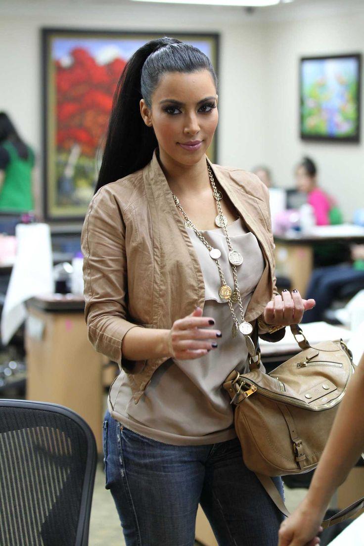 Ponytail Kim Kardashian Looks Hair Ponytail