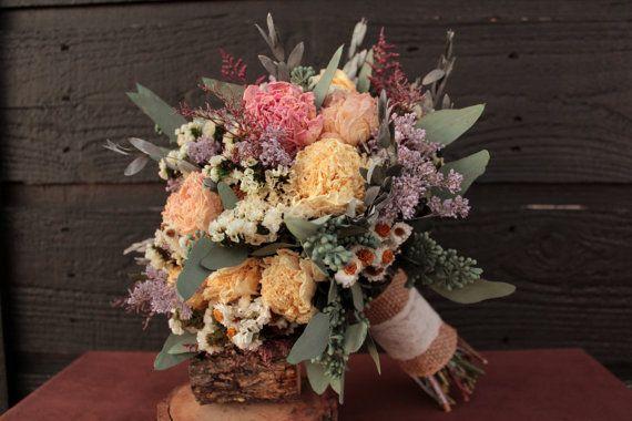 Wedding Flowers: Bouquet Dried Flower Wedding