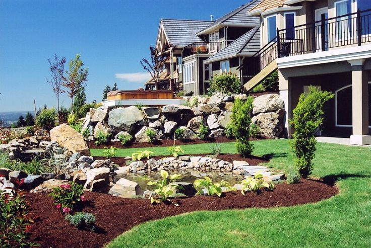 landscapes ideas sloped front yard landscaping ideas small ... on Small Sloped Backyard Ideas On A Budget id=94262