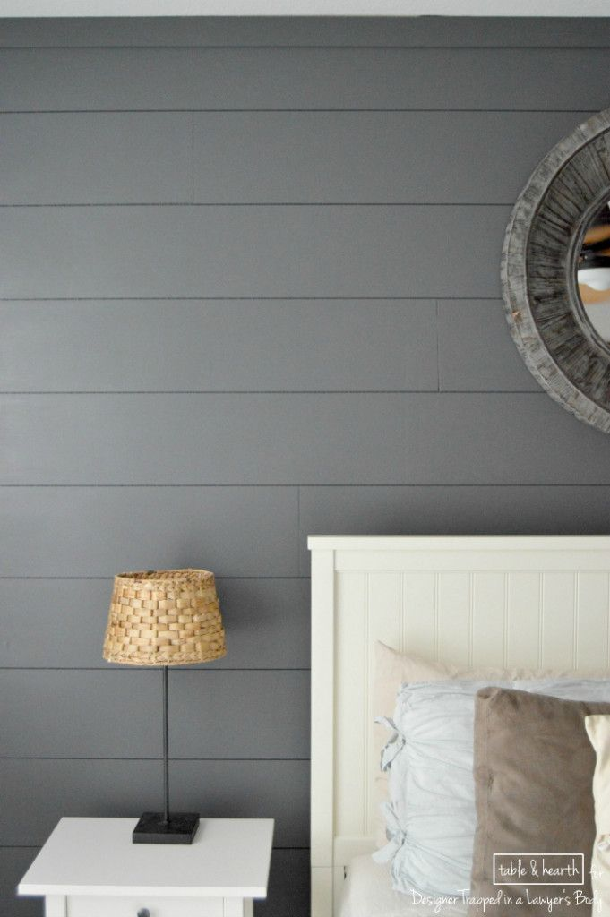 Easy DIY Shiplap Wall Fireplaces Tables And Gray Color
