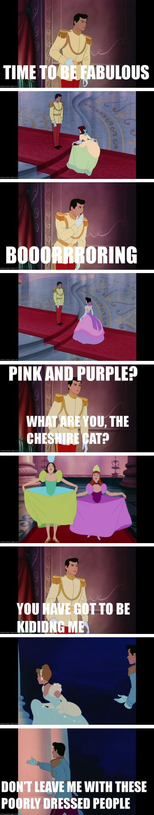 Cinderella is actually the story of one man on a mission to find a fashionably dressed woman.