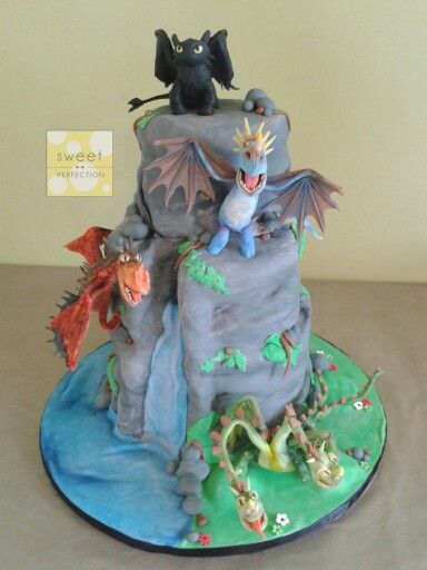 How To Train Your Dragon Cake 3 Tier Cake Design