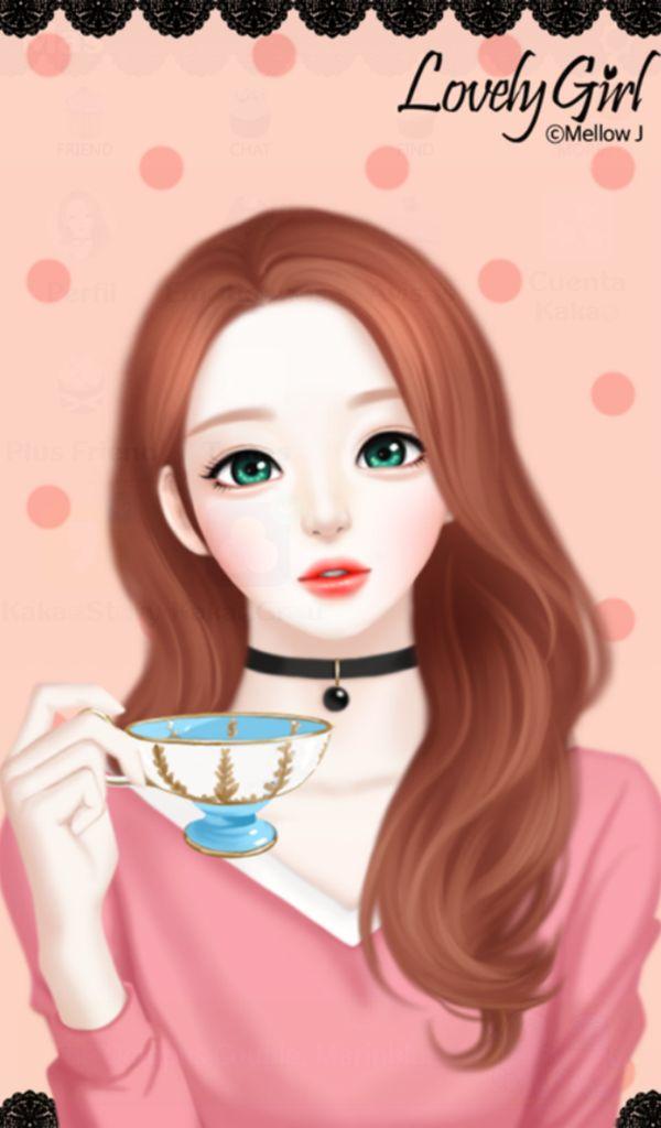Cute Korean Girl Stylish Girl Cartoon Wallpapers Novocom Top