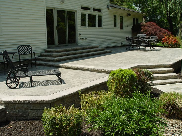 18 best images about Raised patio on Pinterest | Fire pits ... on Raised Concrete Patio Ideas id=34697