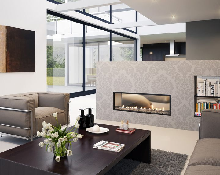 Two-sided Fireplace Gives Room Division