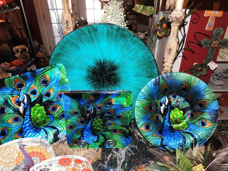 Peacock Plates And Bowl Peacock Kitchen For Our New