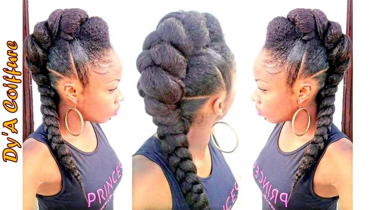 Tutorial Mohawk Faux Hawk Style With A Jumbo Braid