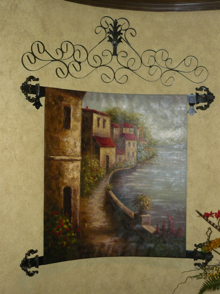 Custom Iron Work For Tapestry Old World Tuscan Traditional Spanish Hacienda Style Home Dcor
