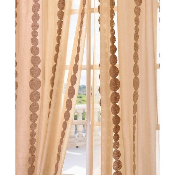 Exclusive Fabrics Cleopatra Gold Embroidered Sheer Curtain Panel By Exclusive Fabrics Products