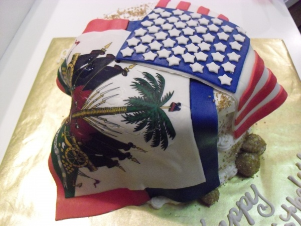 American Amp Haitian Flag Cake Celebrate Your Heritage On