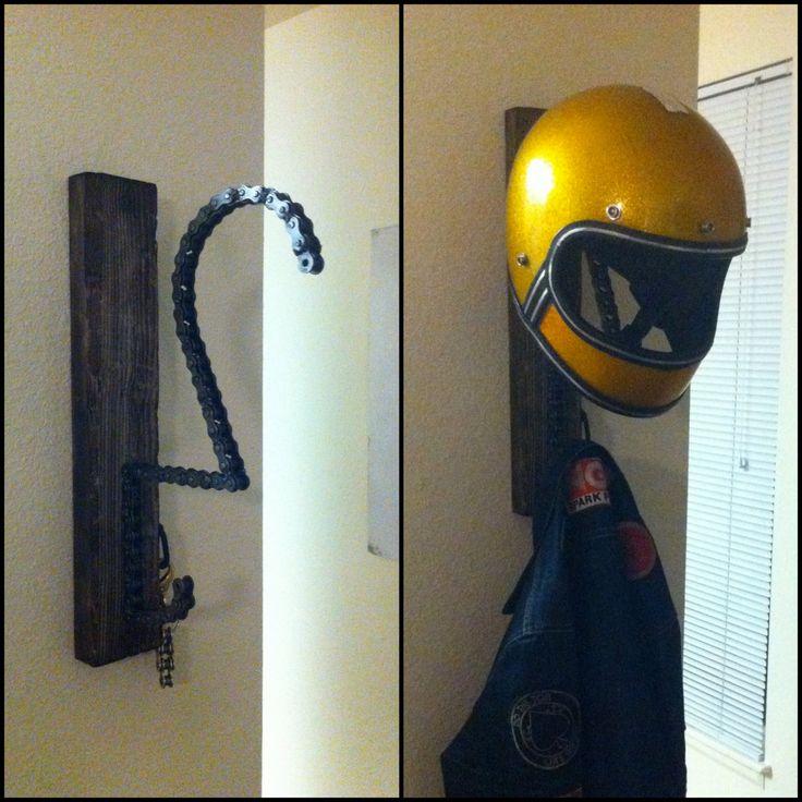 Motorcycle Helmet Key And Coat Rack 150 00 Via Etsy