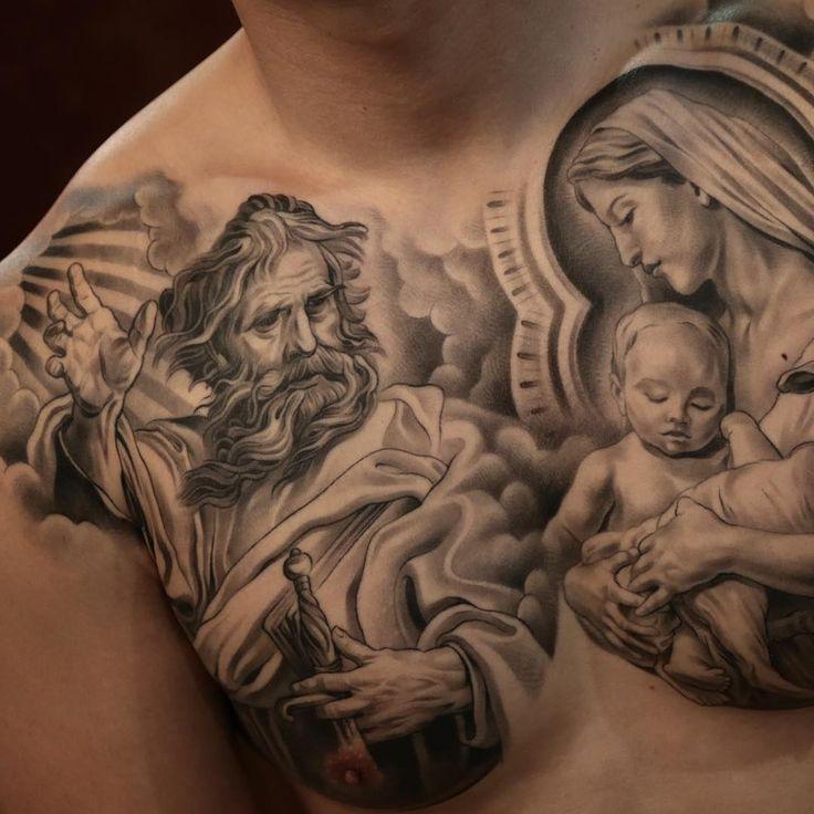 Tatouage Vierge Dos