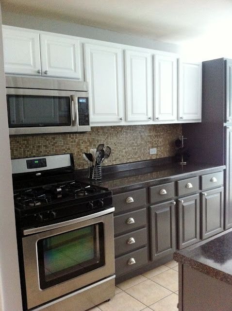 How To Paint Over Oak Kitchen Cabinets My DIY Projects Pinterest The Two Two Tones And