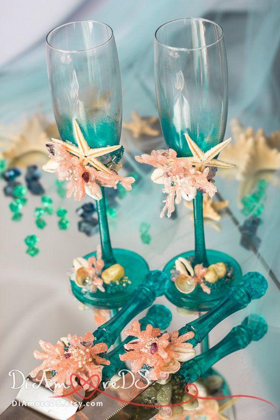 Beach Wedding Set Sea Wedding Cake Server And Knife