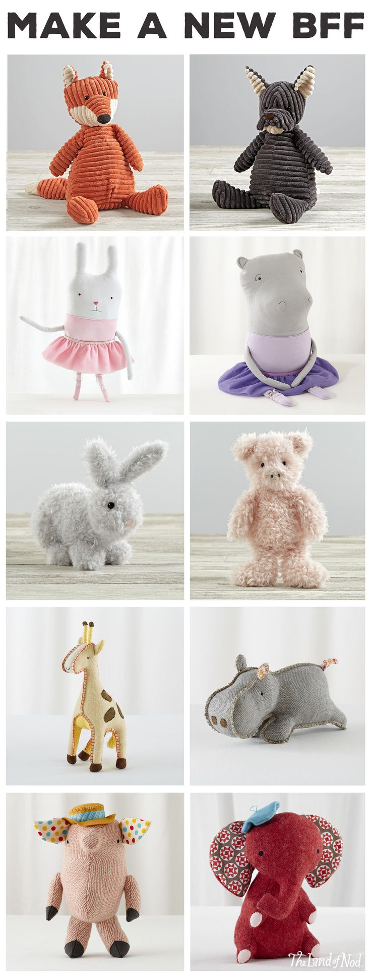 If your little ones are looking for the perfect sidekick, you're in luck. We've got tons of stuffed animals and dolls to keep