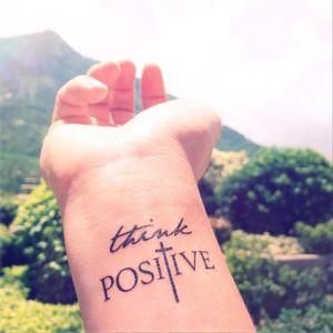2pcs THINK POSITIVE Faith Cross  –