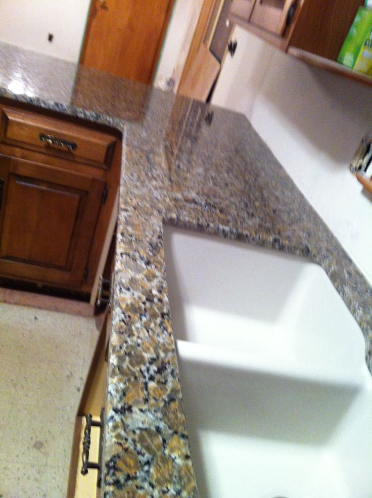 Ferro Gold Granite Countertop With Granite Composite Sink Ferro Gold Granite Pinterest