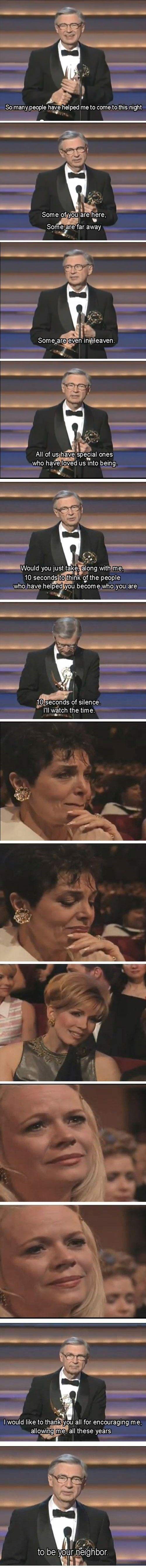 Mr. Rodgers. :) tears