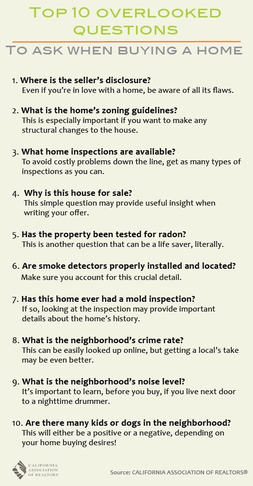 Buying a home can be overwhelming. So many things to know and so many questions to ask. Check out our list