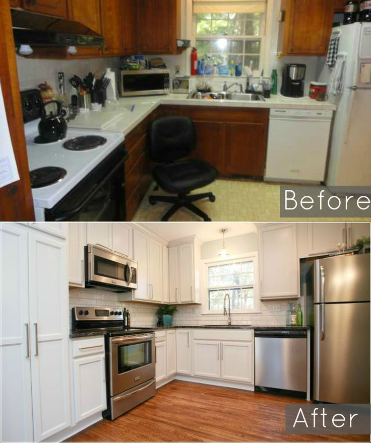 Before And After Of Our Ugly 1960 S Split Level Kitchen
