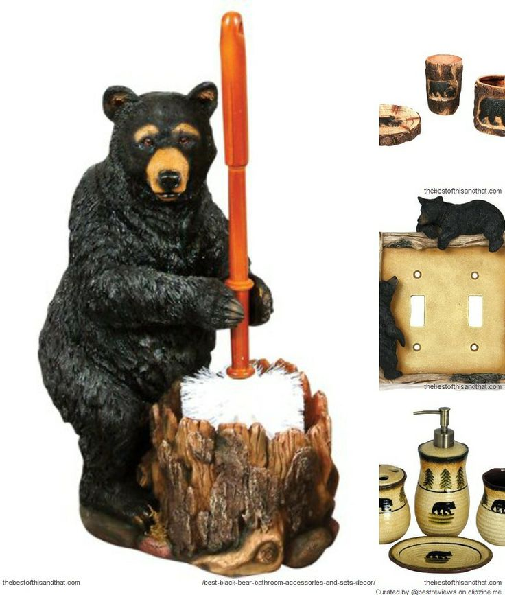 18 best black bear bathroom accessories images on pinterest