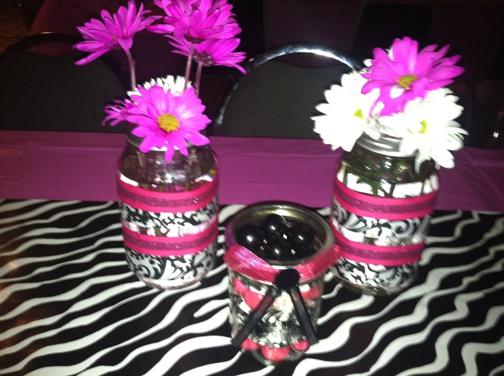 40th Birthday Party Decorations I Made. Pink, Black And