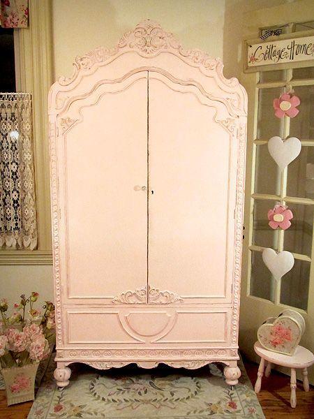 Shabby Pink Wardrobe Armoire Wardrobe Pinterest