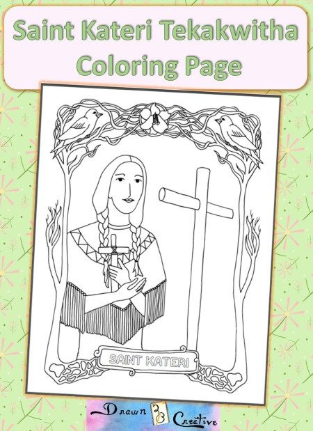 Saint Kateri Coloring Pagejpeg Catholic Printables