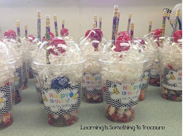 birthday gift for students – I dont know if you do school on their birthdays, but this is cute if you do