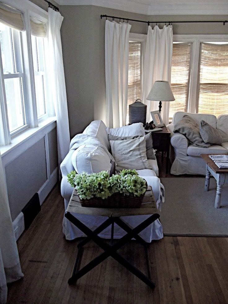17 Best images about Rustic curtains on Pinterest | Sheer ... on Farmhouse Curtain Ideas For Living Room  id=23610