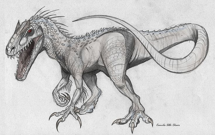 indominus trex in drawing form  google search  jurassic