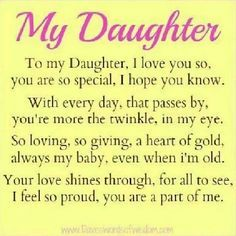 17 Best Beautiful Daughter Quotes on Pinterest | Daughter ...