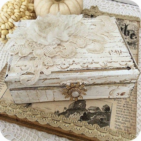 17 Best Ideas About Shabby Boxes On Pinterest Vintage