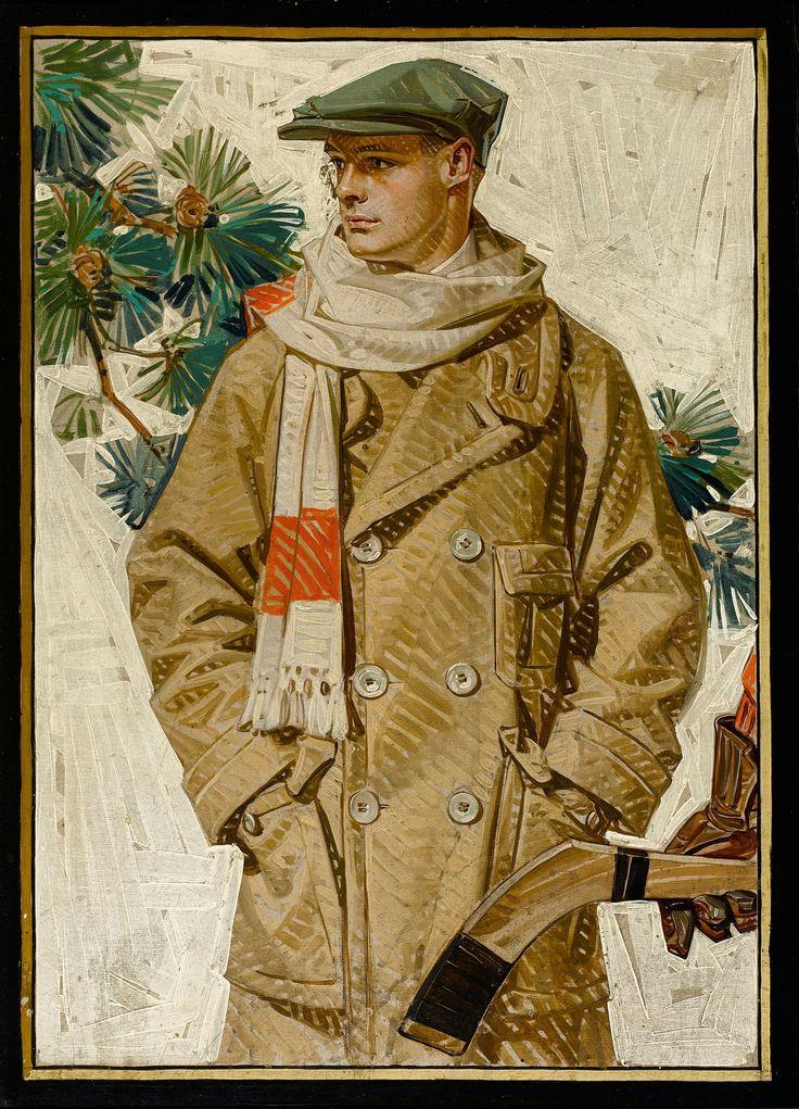 JC Leyendecker 1920 Ready For Hockey Kuppenheimer