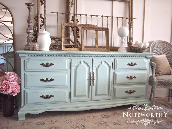 Robins Egg Blue Buffet, Light Blue, Turquoise, Dresser