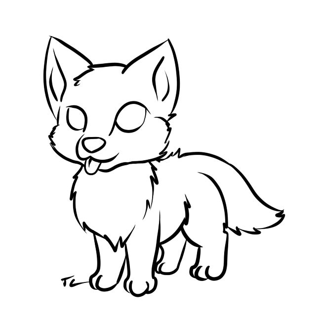 Wolf Cute Baby Easy Drawings