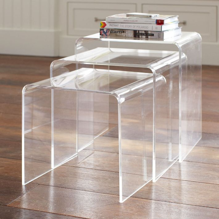 decor look alikes pb teen acrylic nesting tables 249 vs on exclusive modern nesting end tables design ideas very functional furnishings id=69095