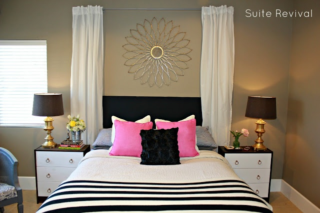 Navy, Pink, And Gold Bedroom I Dont Like The Wall Color
