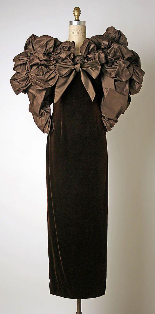 Dress, Evening Bill Blass Ltd. (American, founded 1970)  Designer: Bill Blass (American, 1922–2002) Date: ca. 1988: