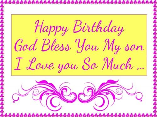 Son Message Birthday Happy My