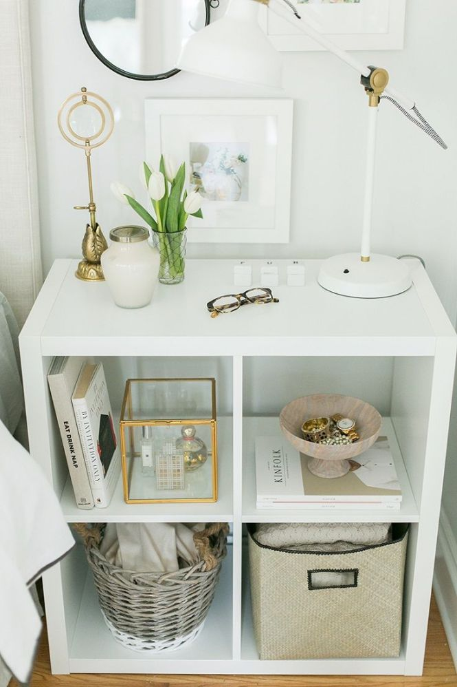 Use Ikea S Kallax Expedit Shelf As A Nightstand 14 Easy And Diy