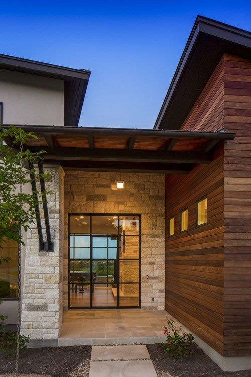 contemporary home hacienda ridge entryway stone wood on modern house designs siding that look amazing id=83675