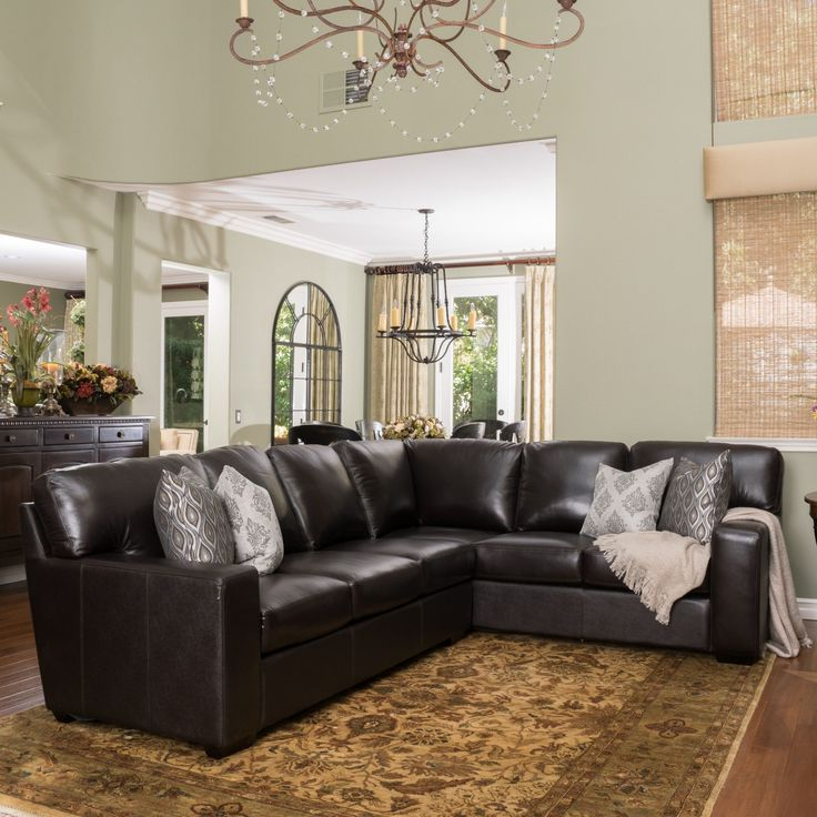 17 Best Ideas About Brown Leather Sectionals On Pinterest