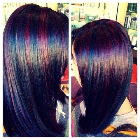 dark hair with burgundy highlights hair pinterest burgundy highlights red highlights and