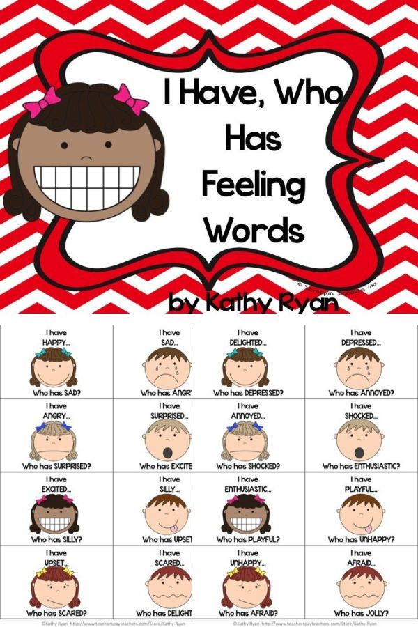 I Have, Who Has Feelings Words | Feelings words, Happy and ...
