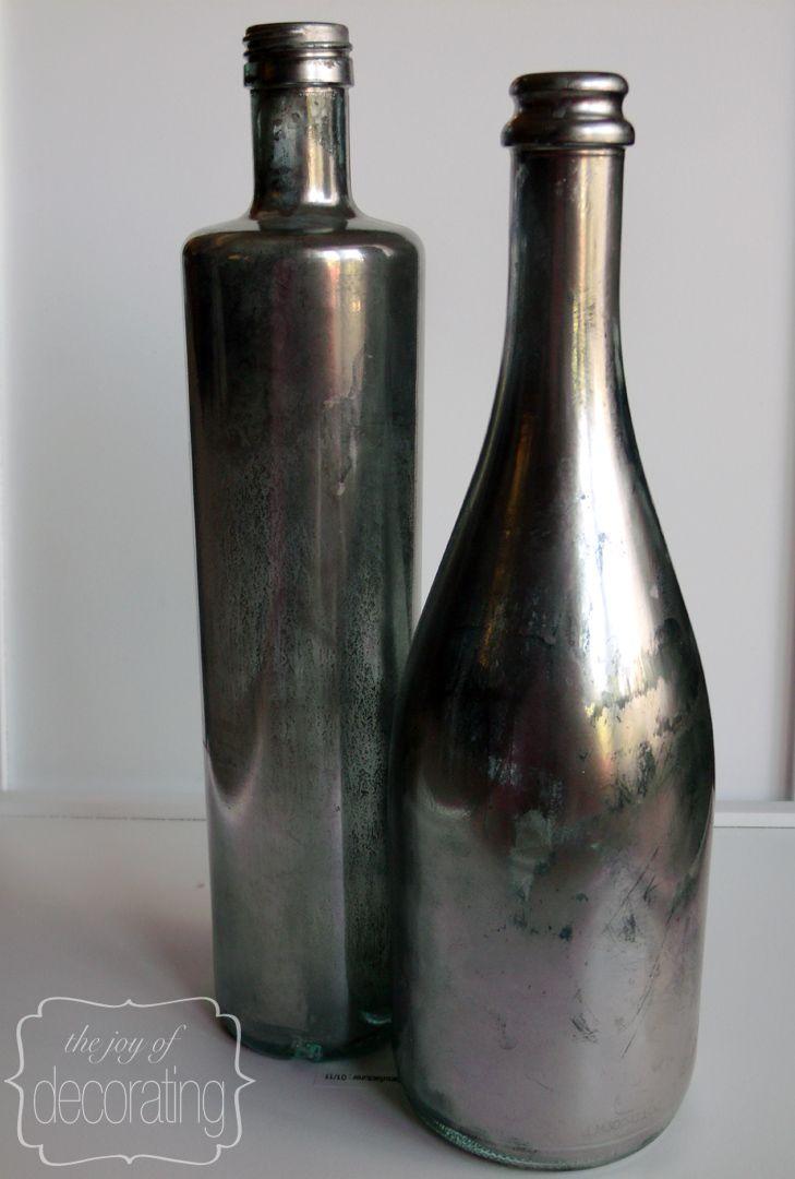 mercury glass bottles  so easy