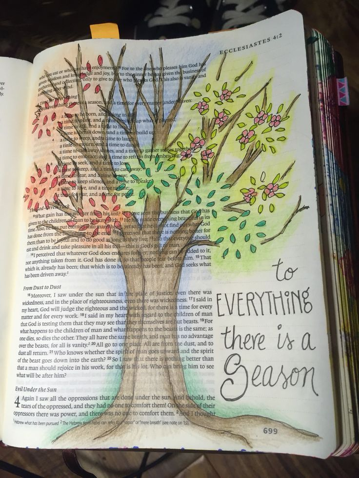 Bible Journaling Ecclesiastes 31 Everything In His Time