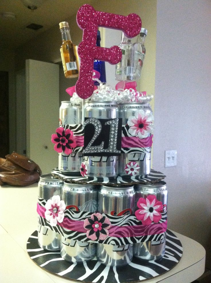 Diy Beer Cake For A 21st Birthday Gift But Can Mine Be