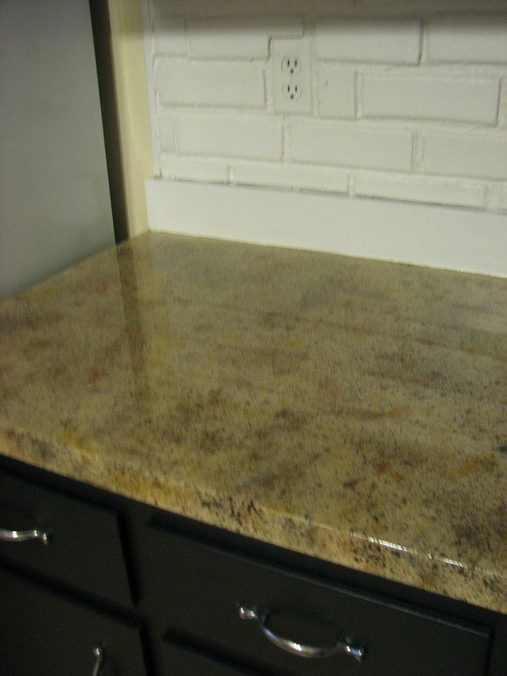 Faux Granite Painted Counter Tops ∙ Our House