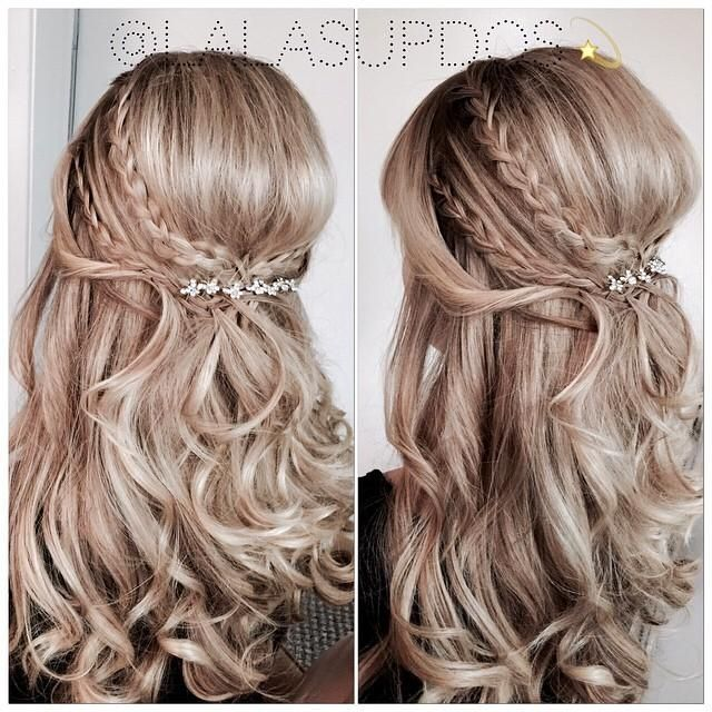 half up half down braided wedding hairstyles – Google Search